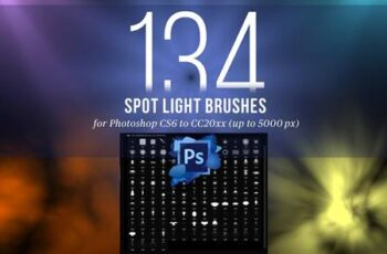 134 Spotlight Brushes for Photoshop 4445949 5