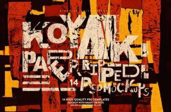 Koyak- 14 PSD Paper Ripped Mockups 4942136 7