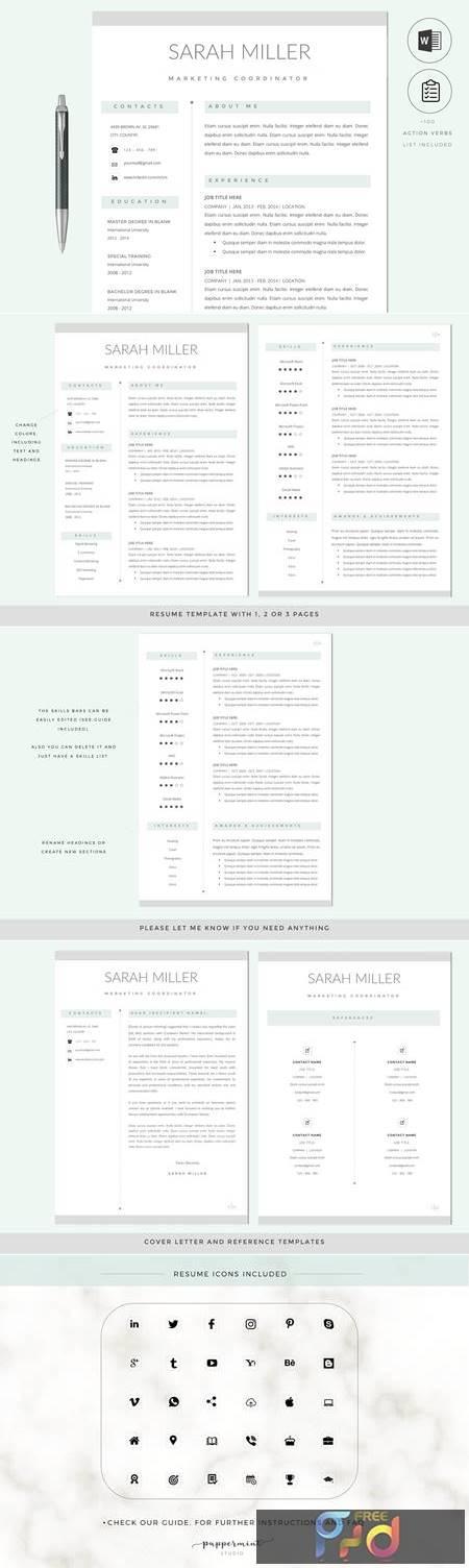 Resume CV Template & Cover Letter 2766152 1