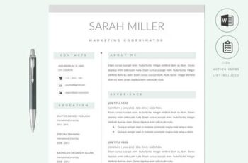 Resume CV Template & Cover Letter 2766152 13