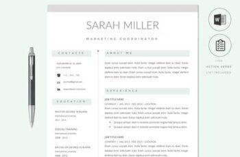Resume CV Template & Cover Letter 2766152 2