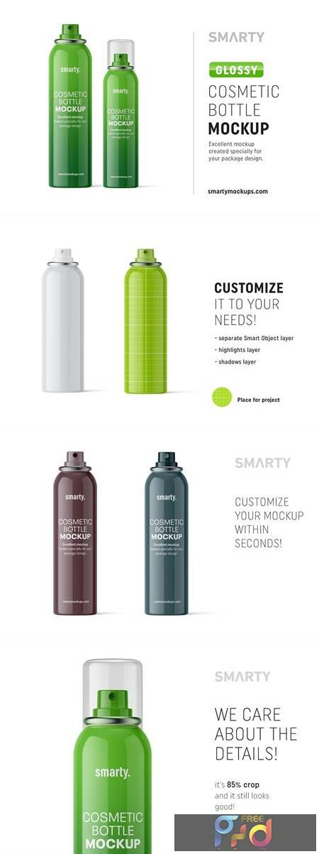 Glossy cosmetic bottle mockup 4835066 1