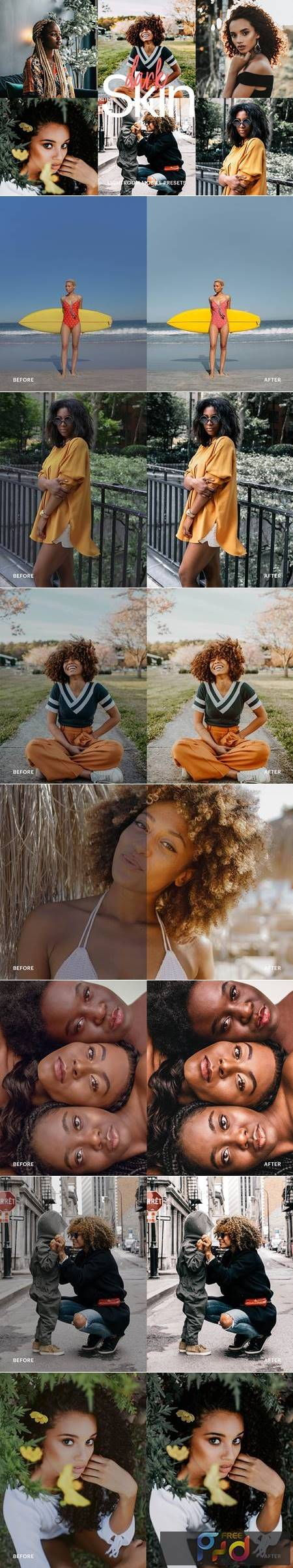Lightroom Preset - Dark Skin Theme 4972975 1