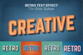 Retro Text Effect for Illustrator 4405404 5