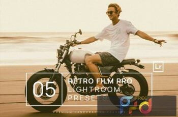 5 Retro Film Pro Lightroom Presets + Mobile HFLWW8L 6