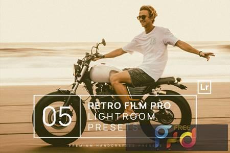 5 Retro Film Pro Lightroom Presets + Mobile HFLWW8L 1