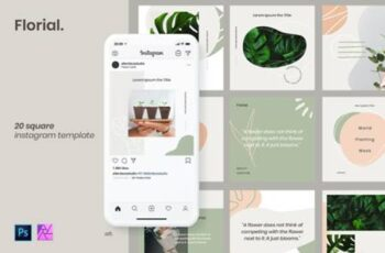 Instagram Post Template - Florial 4391358