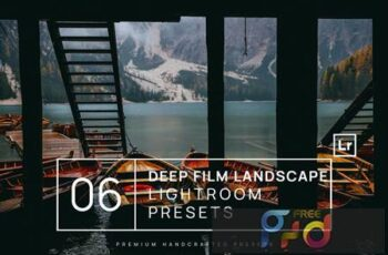 6 Deep Film Landscape Lightroom Presets + Mobile GP65P9E 6