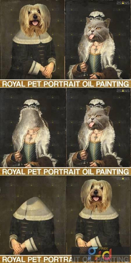 Royal Pet Portrait Templates Vol.4 4406008 1