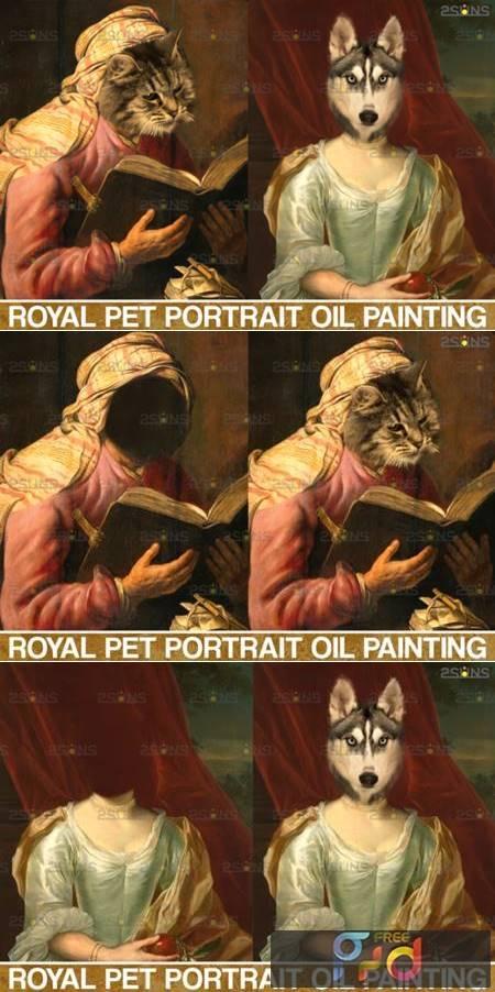 Royal Pet Portrait Templates Vol.6 4406021 1