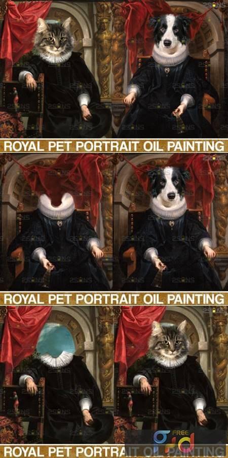 Royal Pet Portrait Templates Vol.7 4406029 1