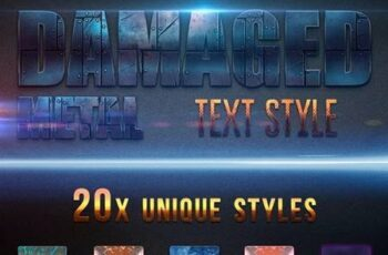 Damaged Metal Text Style v2 26883974
