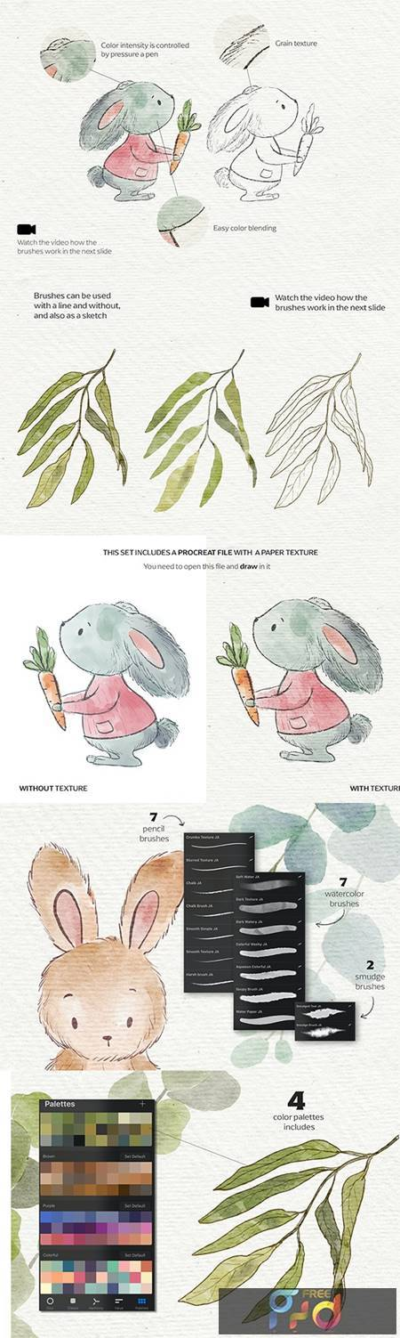 Watercolor & Pencil Procreate brushes 27044253 1