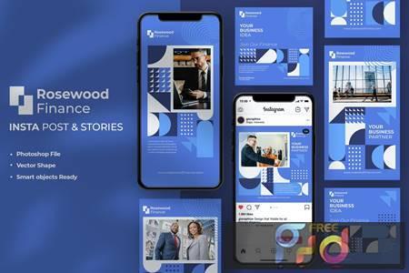 Finance Instagram Stories & Post Template 649TK8C 1