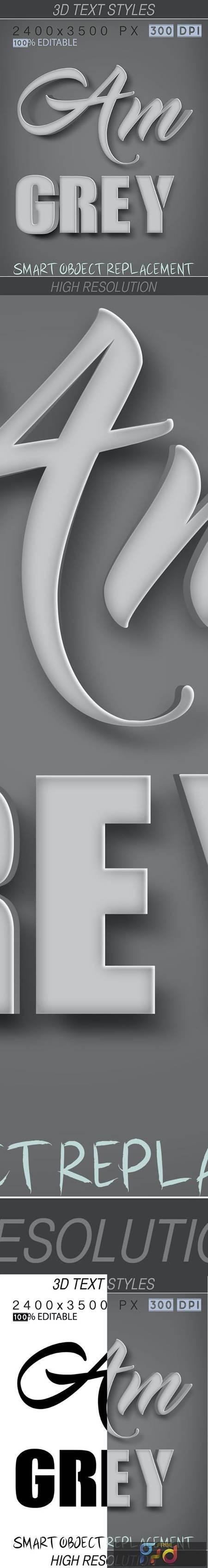 3D Text Styles Grey 26649735 1