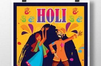 Balam Pichkari Holi Poster Template 1631596