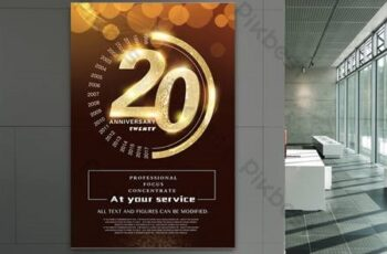 Creative high-end company anniversary corporate celebration poster design 13557 5