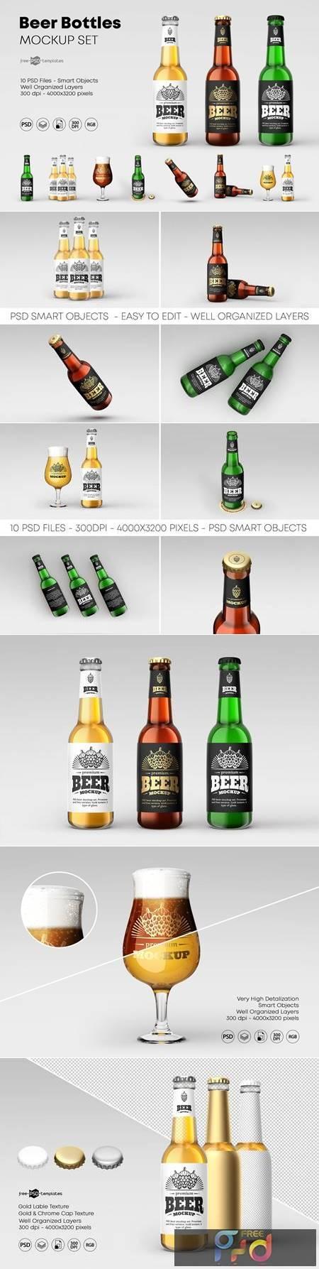 Beer Bottle Mockup Set 4615774 1
