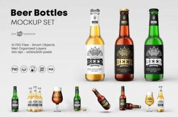 Beer Bottle Mockup Set 4615774