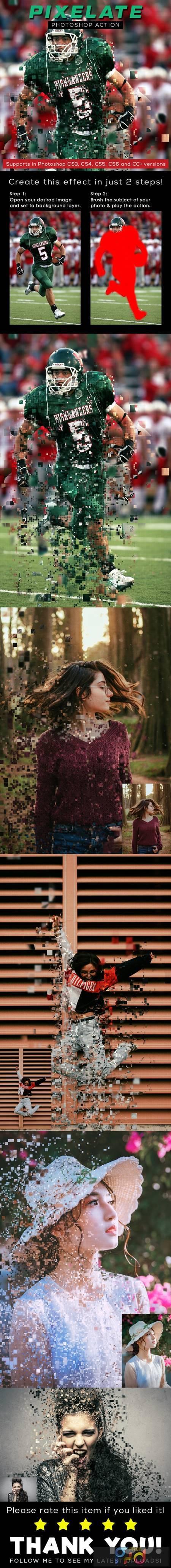 Pixelate Photoshop Action 26304514 1