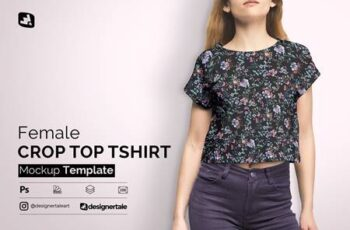 Female Crop Top Tshirt Mockup 4579900 7