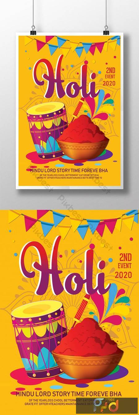 Happy Holi Indians Poster Templates 1630822 1