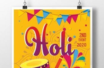 Happy Holi Indians Poster Templates 1630822 3