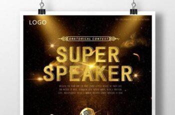 Simple black gold super speaker poster 1649620 7
