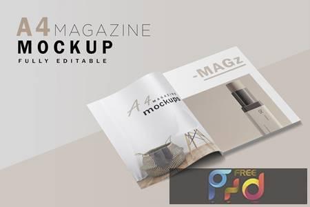 A4 Magazine Mockup V.2 K3NDN8S 1