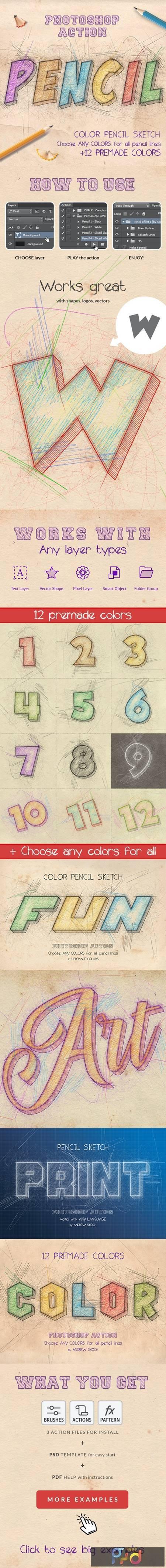 Color Pencil Sketch - Photoshop Actions 27194012 1