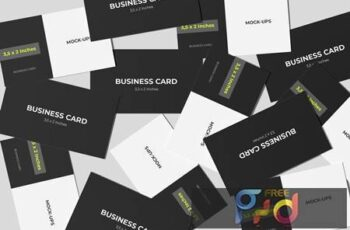 Business Card Mockup Spread Style LMF976F 6