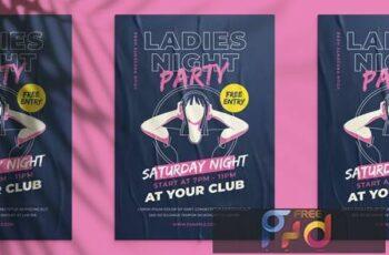 Ladies Night Party Flyer ZFVHNJS 13