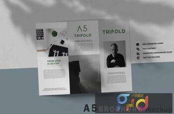 A5 Trifold Brochure Mockup V.1 YMGYV28 5