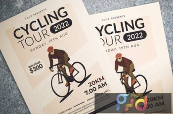 Cycling Tour Flyer YXN5K8N