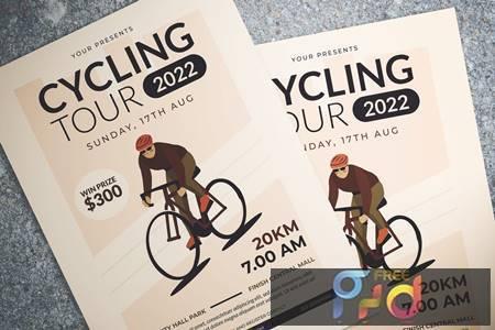 Cycling Tour Flyer YXN5K8N 1
