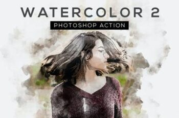 Watercolor 2 Photoshop Action 26320153