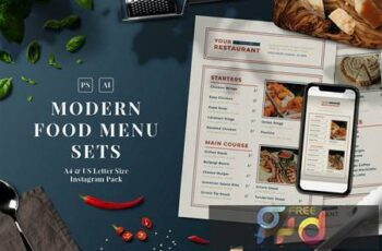 Modern Food Menu Set 7BQ7UX3