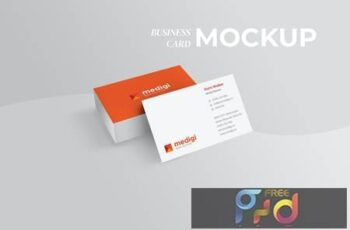 Perspective Business Card Mockup - Light File Size DWP6C2C 6