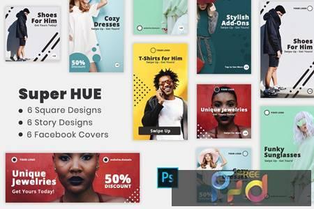 Super Hues - Social Media Kit & Facebook Covers 9G9R6E9 1