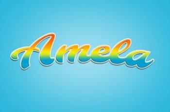 Amela 3D game Logo Rainbow Text Effect 26999571 6