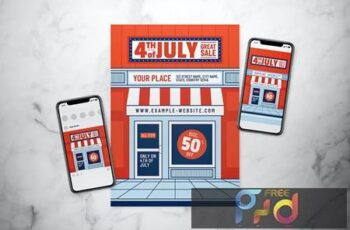4th of July Great Sale Flyer Set THLC6R6