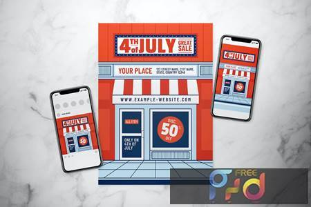 4th of July Great Sale Flyer Set THLC6R6 1