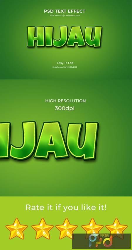 Hijau Green 3D Game Logo Text Effect 26999605 1