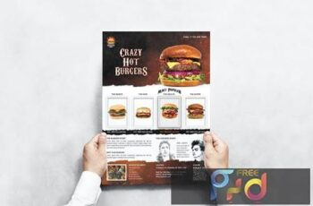 Burger Menu Flyer M58C37L 3