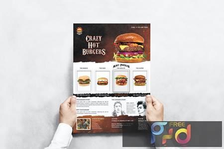 Burger Menu Flyer M58C37L 1