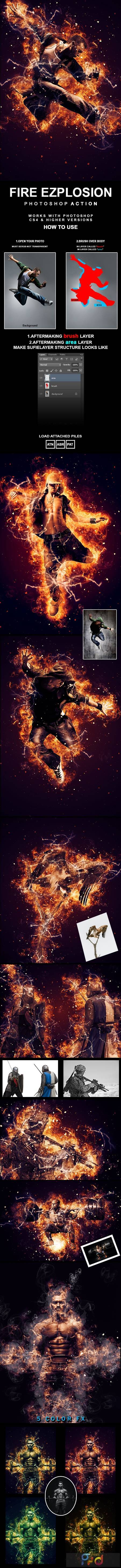 Fire Explosion Photoshop Action 27119145 1