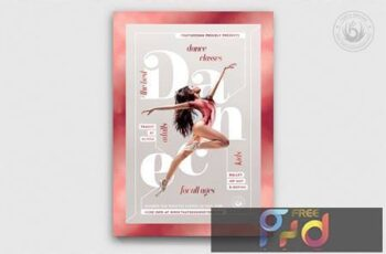Dance Classes Flyer Template V4 FSER2GX 2