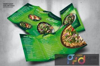 Eco Green Food Menu Design A4 & US Letter TB6K6K7 2