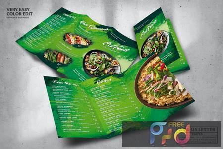 Eco Green Food Menu Design A4 & US Letter TB6K6K7 1