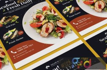 Fresh Food Poster PSD Template 2JLGKV9 7